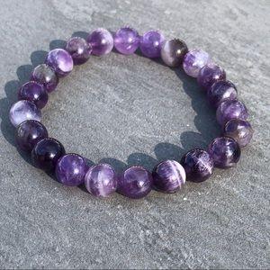 Jewelry - Amethyst Natural Stone Mala Bracelet